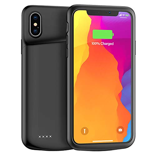 Upgraded Lonlif iPhone X/XS/10 Battery Case, 4000mAh Ultra Slim Portable Charging Case Rechargeable Protective Charger…