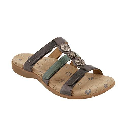 Taos Footwear Women's Prize 3 Blue Multi Sandal 8 M US