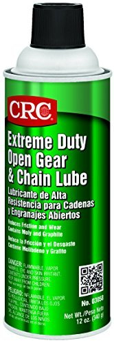 CRC Extreme Duty Open Gear and Chain Lube, 12 oz Aerosol Can, Black by CRC by CRC