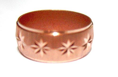Sun Diamond Bracelets (Pure Copper Band Ring with Diamond Sparkley Cut Sun Rays Stunning Design (9))