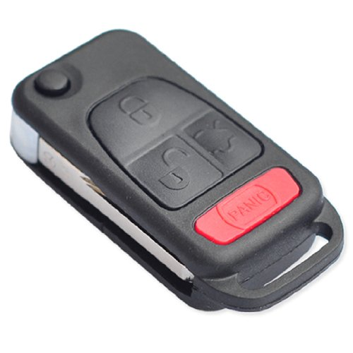 New remote flip key shell for mercedes benz ml320 c230 for Mercedes benz remote key