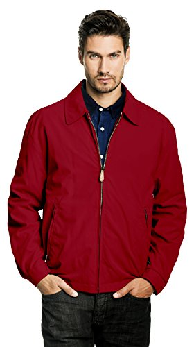 - London Fog Men's Auburn Zip-Front Golf Jacket (Regular & Big-Tall Sizes), true red, Medium