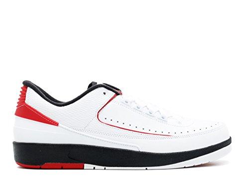 Nike Air Jordan 2 Herren Retro Bajo Basketballschuhe Blanco, Equipo Universitario Rojo-negro