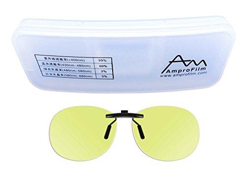 Reading glasses clip - Amprofilm Gamer and Computer Eyewear for Deep Sleep - Digital Eye Strain Prevention - Anti-Blue Glasses - LED Protection Glasses –MODEL - Computer Eyeware