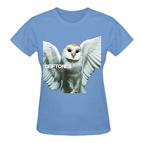 Latoca Deftones Diamond Eyes Premium cotton Vintage T-Shirts For Women O Neck Blue
