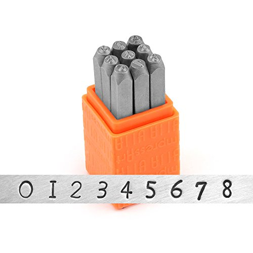 ImpressArt- Basic Newsprint Numbers Metal Stamp Set ()