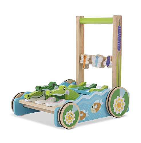 Melissa & Doug First Play Chomp & Clack Alligator Baby Push Toy, Multicolor