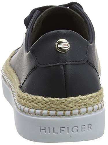 Tommy Hilfiger Damen Tommy Jute City Sneaker, Blau (Midnight 403), 39 EU 3