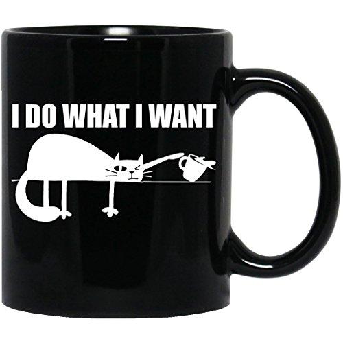 I Do What I Want Funny Joke Cat Cute Animal Meow Kitten Black (Hiker Costume Ideas)