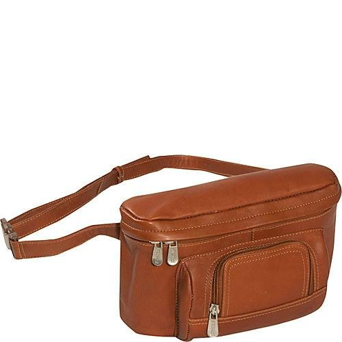 Piel Leather Carry-All Waist Bag, Saddle, One (Piel Fanny Pack)