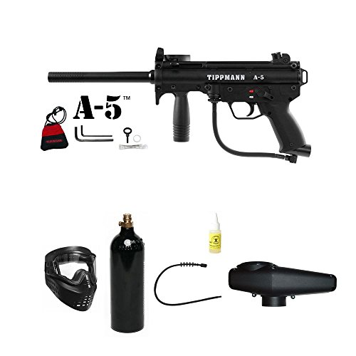 (Tippmann A5 A-5 Paintball Marker Gun Starter Combo Package Set)