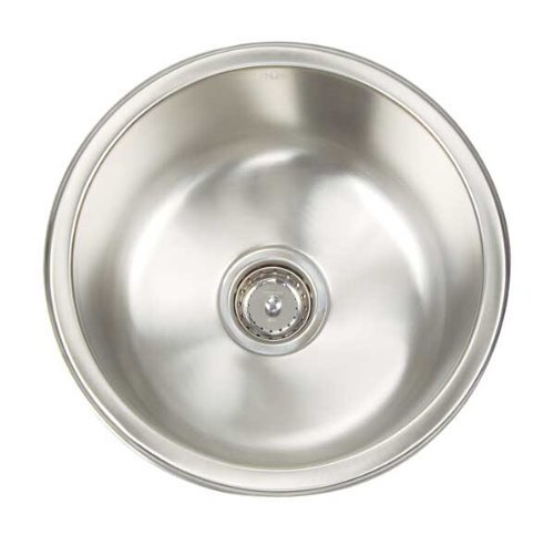 Artisan AR O16 D8-D Premium Collection 16-Gauge 16-Inch Undermount Single Basin Stainless Steel Bar Sink by Artisan