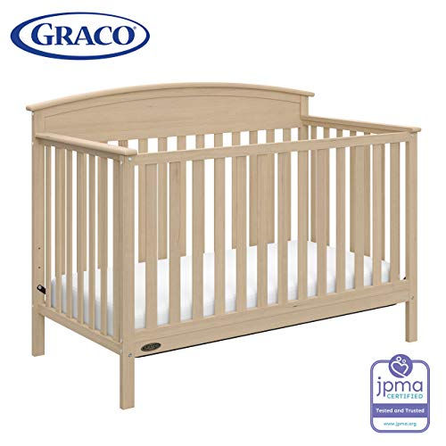 Graco Benton 4-in-1 Convertible Crib (Driftwood) - Easily Converts to Toddler Bed, Daybed or Full-Size Bed with Headboard, 3-Position Adjustable Mattress Support Base from Storkcraft