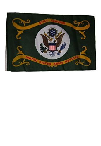 ALBATROS 12 inch x 18 inch Army Retired Serving Sleeve Flag for use on Boat, Car, Garden for Home and Parades, Official Party, All Weather Indoors Outdoors