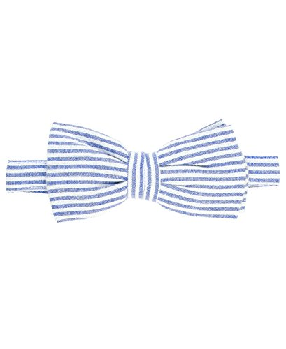 RuggedButts Infant / Toddler Boys Striped Seersucker Bow Tie - Blue Seersucker - (Blue Seersucker)