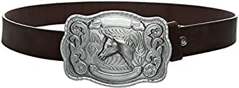 Dark Brown Leather Belt For Men