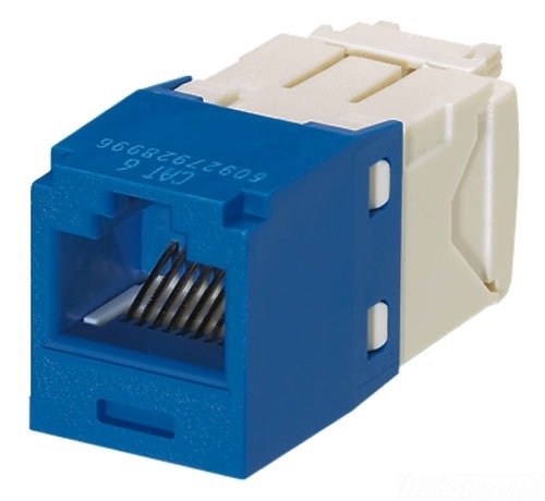 Panduit CJ688TGBU Category-6 8-Wire TG-Style Jack Module, (Tx6 Jack)