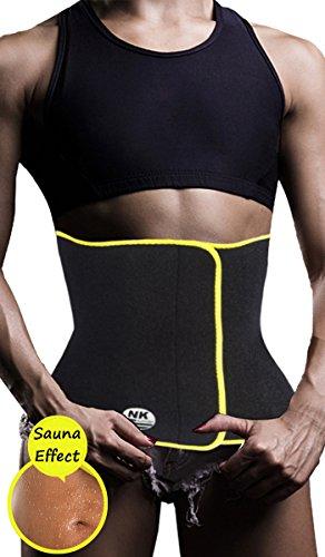 DODOING Workout Waist Trimmer Sweat AB Belt Neoprence Waist Trainer for Fast Tummy Weight Loss Women Adjustable Sauna Suit