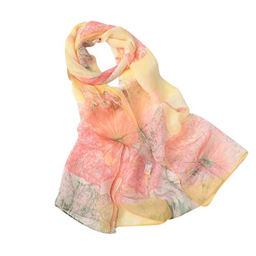 Price comparison product image Bolayu Fashion Lotus Printing Long Soft Wrap Scarf Lady Shawl Scarves For Women (B)
