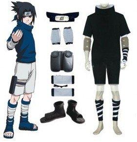 Amazoncom Naruto Sasuke Uchiha Cosplay Costume And