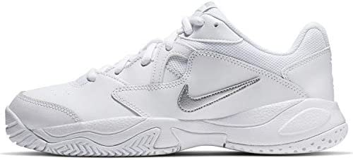 Tennis Shoe, Metallic Silver-White
