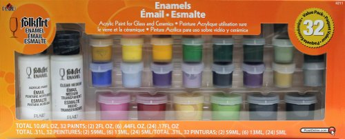One Stroke 4211 Folk Art  Paint Value Pack- Enamels