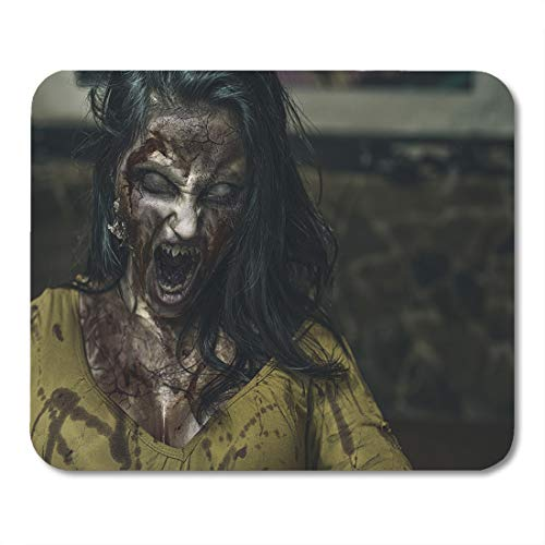 Emvency Mouse Pads Horror Monster Zombie Scream Ghost Scary Woman Girl Evil Mouse Pad for notebooks, Desktop Computers mats 16