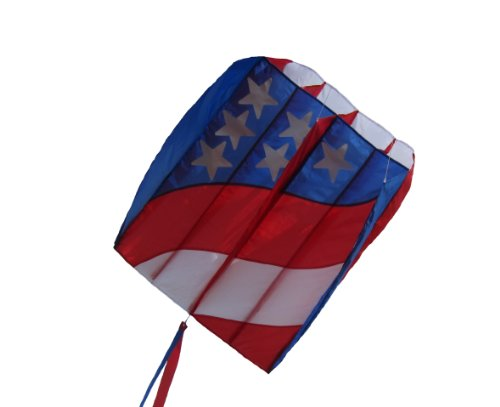 Flag Kite - In the Breeze Patriot Wave 7.5 Parafoil Kite