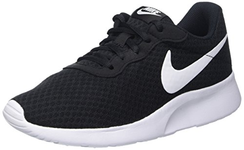 NIKE Women's Tanjun Black/White Running Shoe 8.5 Women US (Tennis Women Shoe)