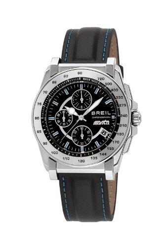 Breil TW0791 - Reloj cronógrafo de caballero de cuarzo con correa de piel negra: BREIL: Amazon.es: Relojes