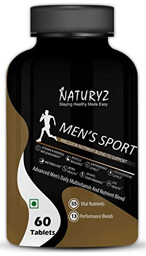 Naturyz Men's Sport Advanced Daily Immunity Supplement Specialized Multivitamin For Men, 60 count