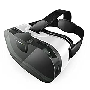 Pasonomi 3D VR Glasses Virtual Reality Headset for iPhone & Android Smartphone
