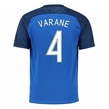 size 40 951d6 a4127 Amazon.com : 2016-17 France Home Football Soccer T-Shirt ...