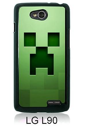 LG L90 Screen Case ,minecraft background graphics green Black LG L90