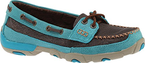 Slip Brown Womens Casual On Shoes M WDM0021 5 7 Turq Rubber Twisted X x6qHwnvOII