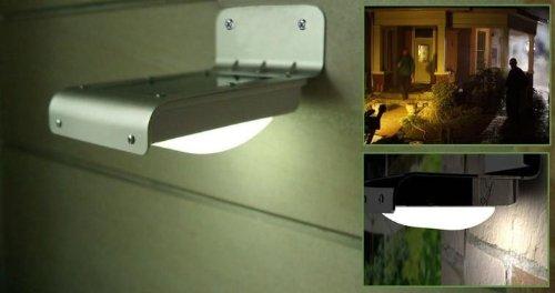 FADDIST Solar Sensitive Motion Sensor 16 LEDs Outdoor Light Home Security