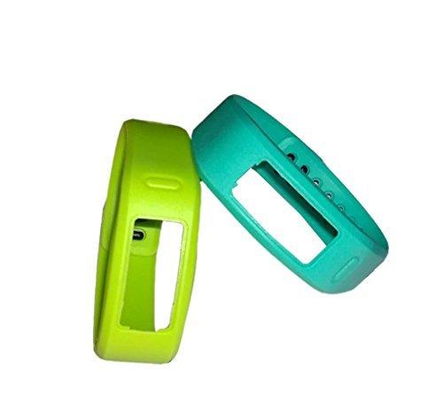 WEINISITE Silikon Ersatz Armband mit der Clasps für Garmin Vivofit Armbänder/Garmin Vivofit Fitness, keine Tracker (2 Stück, L)