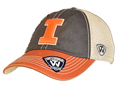 Top of the World Illinois Fighting Illini Navy Orange Offroad Snapback Hat Cap by Top of the World
