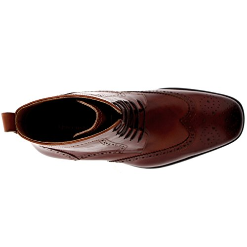 Uomo Queensbury cap Pieno Tan Scarpe Smith Caviglia Pelle Stivali Oxfords Wing Vera Tw7wxFqr