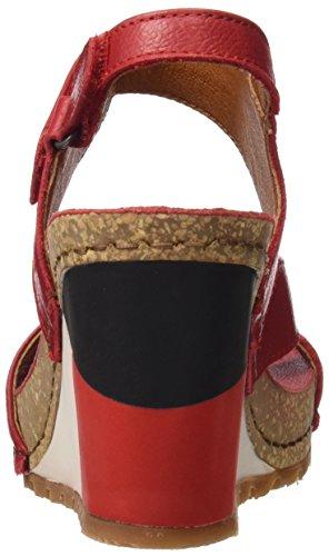 Punta carmin Güell 1330 Rosso Sandali Aperta Donna Memphis Art wqAapIp