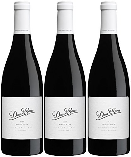 Don & Sons Sonoma Signature Series Pinot Noir 3 Pack, 3 x (3 Pinot)