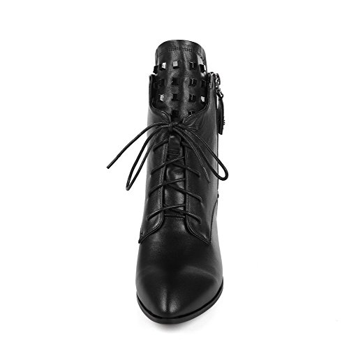 Blend Metal Blend Boots Black Allhqfashion Materials with Ornament Low Women's and Pinker Materials Heels Winkle qAq7xStw