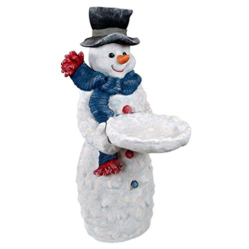 Design Toscano Christmas Decorations – Flurry the Snowman Side Table – Holiday Decor Butler Table Review