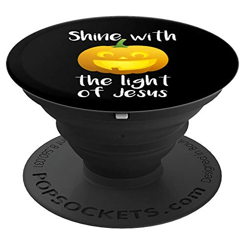 Shine With the Light of Jesus PopSockets Grip - PopSockets Grip and Stand for Phones and Tablets ()