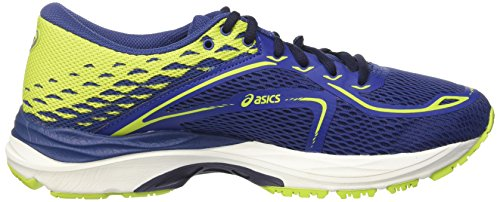 Asics Unisex-Kinder Gel-Cumulus 19 GS Laufschuhe Blau (Limoges / Peacoat / Energy Green)