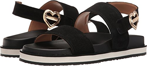 Love Moschino Women's Metal Heart Buckle Sandal Black 35 M EU by Love Moschino (Image #3)