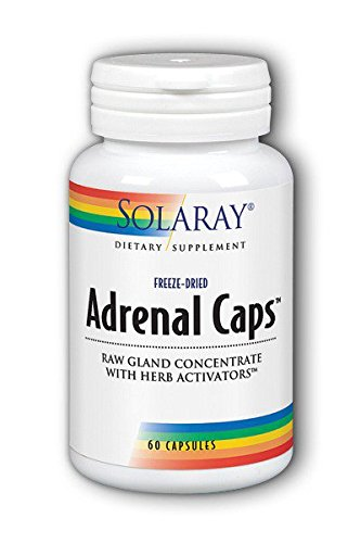 Solaray Adrenal Supplement Capsules, 170 mg, 60 Count