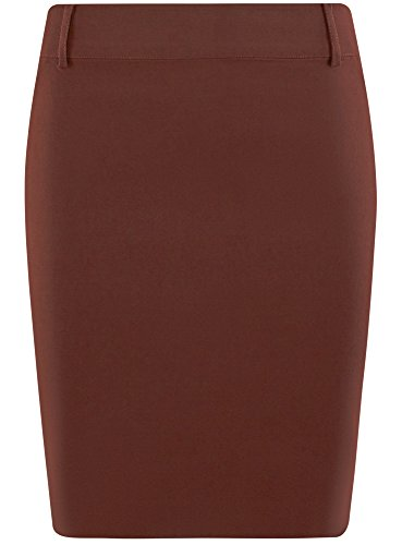 Taille clair 4900n Femme Moyenne Coupe Crayon Ultra Fermeture et Courte Jupe Stretch oodji Rouge Of8wAaBPqy