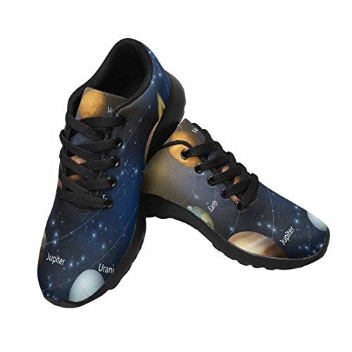 Chaussures De Course De Trailprint Womensprint Jogging Sports Légers Marchant Des Baskets Athlétiques Les Planètes Du Système Solaire Avec Des Étiquettes De Nom Multi 1