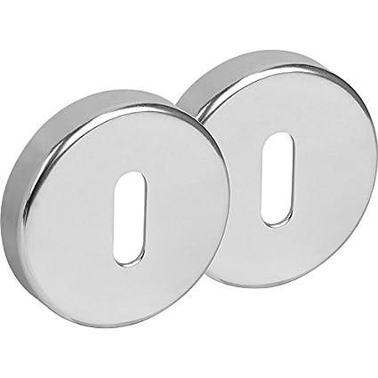 Cerradura de aluminio juego de raso embellecedor de latón pulido